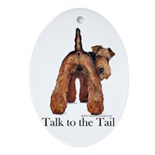 Airedale Terrier Talk Ornament (Oval)