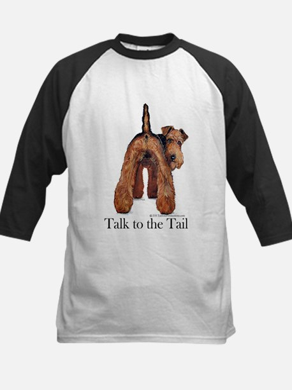 Airedale Terrier Talk Kids Baseball Jersey