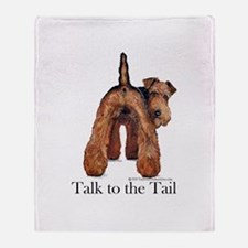 Airedale Terrier Talk Throw Blanket