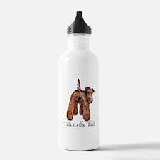 Airedale Terrier Talk Water Bottle