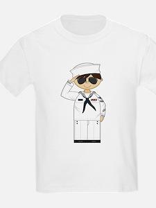 Saluting US Navy Officer T-Shirt