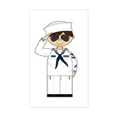 Saluting US Navy Officer Decal