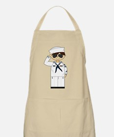 Saluting US Navy Officer Apron