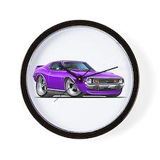 1971-74 Javelin Purple Car Wall Clock