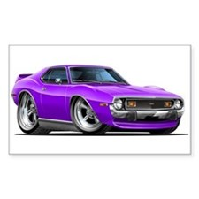 1971-74 Javelin Purple Car Decal