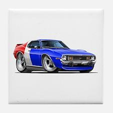 Javelin Red White Blue Car Tile Coaster