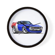 Javelin Red White Blue Car Wall Clock