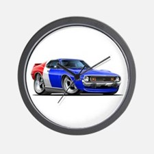 Javelin Red White Blue Car Wall Clock