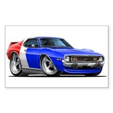 Javelin Red White Blue Car Decal