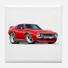 1971-74 Javelin Red Car Tile Coaster