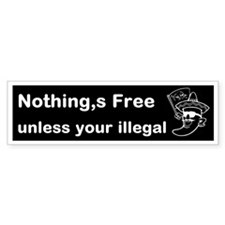 illegal Custom Bumper Sticker