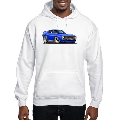 1971-74 Javelin Blue Car Hooded Sweatshirt