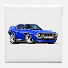1971-74 Javelin Blue Car Tile Coaster