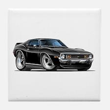 1971-74 Javelin Black Car Tile Coaster