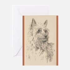 Silky Terrier Greeting Card