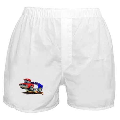 Javelin Red White Blue Car Boxer Shorts