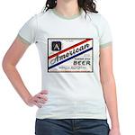 1934 American Beer Label Jr. Ringer T-Shirt