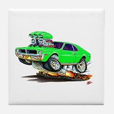 1969-70 Javelin Lime Car Tile Coaster
