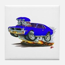 1969-70 Javelin Blue Car Tile Coaster