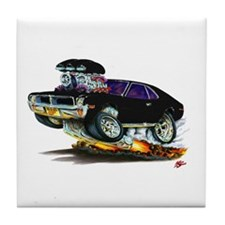 1969-70 Javelin Black Car Tile Coaster