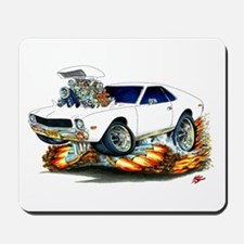 AMX White Car Mousepad