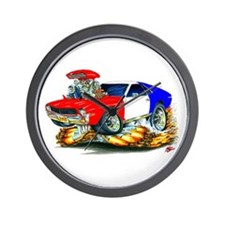 AMX RedWhiteBlue Car Wall Clock