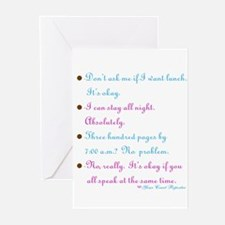 No problem reporter -Greeting Cards (Pk of 10)