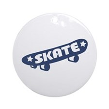 Skateboard Ornament (Round)