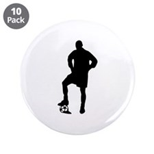 "Soccer Player 3.5"" Button (10 pack)"