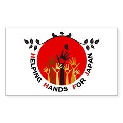 Helping Hands For Japan Decal