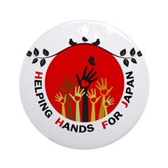 Helping Hands For Japan Ornament (Round)