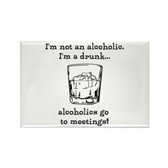 I'm not an alcoholic Rectangle Magnet (100 pack)
