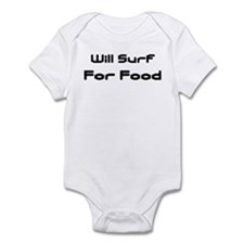 Will Surf For Food Infant Creeper