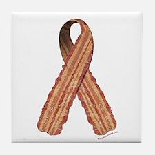 Bacon awareness ribbon Tile Coaster