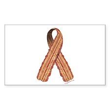 Bacon awareness ribbon Decal