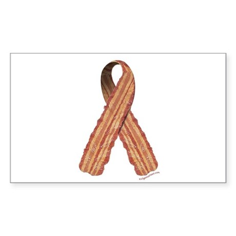 Bacon awareness ribbon Sticker (Rectangle)