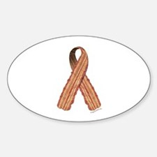 Bacon awareness ribbon Sticker (Oval)
