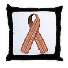 Bacon awareness ribbon Throw Pillow