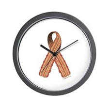 Bacon awareness ribbon Wall Clock