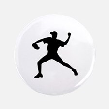 "Baseball - Pitcher 3.5"" Button"
