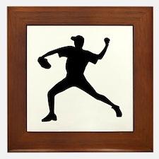 Baseball - Pitcher Framed Tile