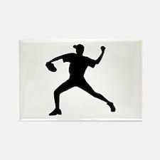 Baseball - Pitcher Rectangle Magnet