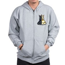 Black Wheaten Scottie Zip Hoodie