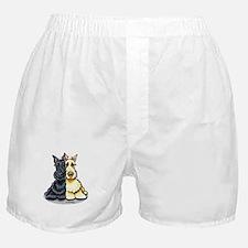 Black Wheaten Scottie Boxer Shorts
