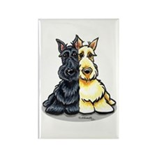 Black Wheaten Scottie Rectangle Magnet (100 pack)