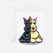 Black Wheaten Scottie Greeting Card