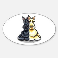 Black Wheaten Scottie Sticker (Oval)