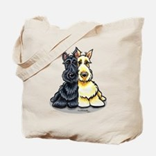 Black Wheaten Scottie Tote Bag