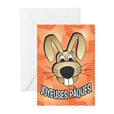 Bunny Face - french Greeting Cards (Pk of 20)
