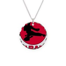 Karate Necklace Circle Charm